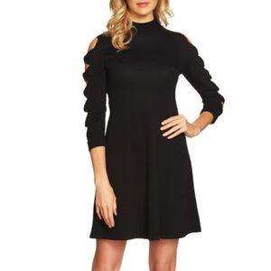 CeCe Bow Sleeve Mock Neck Sweater Dress NWT